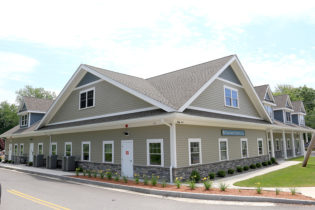 . Route 38 or Main Street in Tewksbury has had some upgrades made to the development along the Route Recently. 1438 Main Street is a new office building. SUN//JOHN LOVE