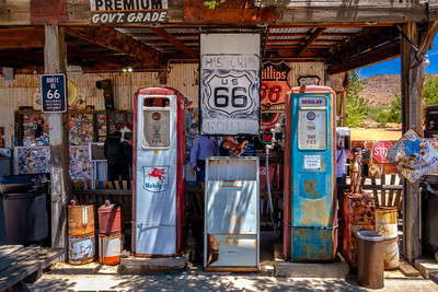 Hackberry General Store gas pumps
