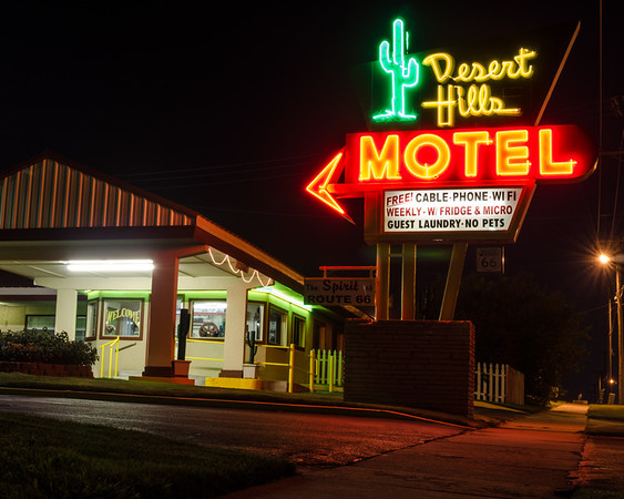 Desert Hills Motel Sign