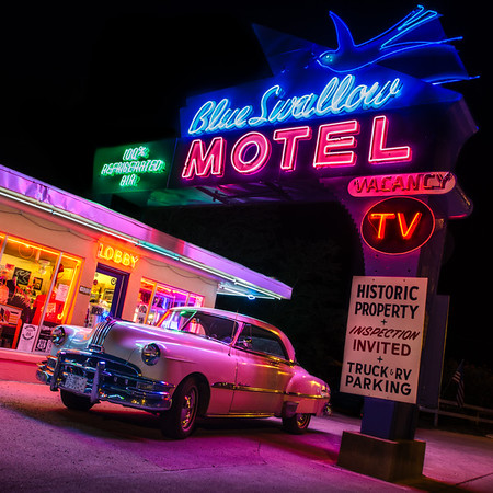 Pontiac at The Blue Swallow Motel