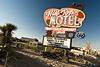 Hill Top Motel Sign Day