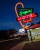 The Supai Motel at Dusk