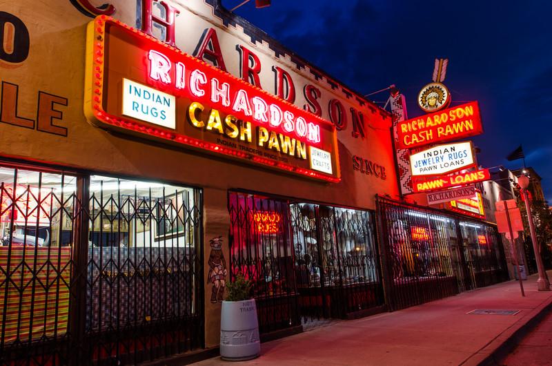 Richardson's Trading Post at Night