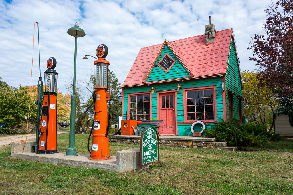 "Located near Carthage, Missouri, Red Oak II is a faithful reproduction of a small Missouri town and is the labor of love of artist Lowell Davis who has a penchant for intentional mis-spelling and mis-pronunciation of ""Missouri"" as ""Missoura"".  More about the artist here -- <a href=""http://www.missourilife.com/life/art/missouri-artist%3A-lowell-davis/"">http://www.missourilife.com/life/art/missouri-artist%3A-lowell-davis/</a><br /> <br /> More about Red Oak II here -- <a href=""http://www.legendsofamerica.com/mo-redoakii.html"">http://www.legendsofamerica.com/mo-redoakii.html</a>"