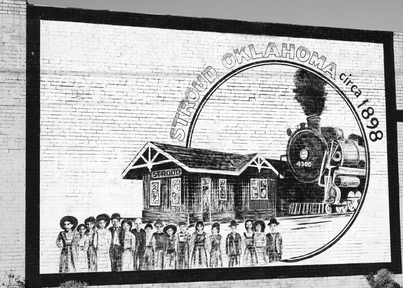 Commemorative Wall Mural<br /> Old US-66 in Stroud, Oklahoma