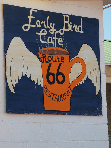 Early Bird Cafe along Old US-66<br /> Davenport, Oklahoma