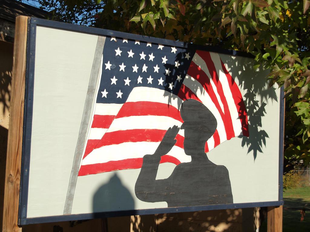 Patriotic Marker<br /> Old US-66<br /> Depew, Oklahoma