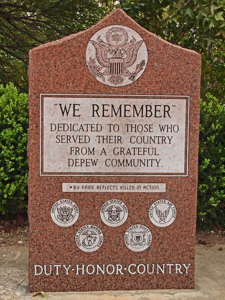 Veterans Memorial<br /> Old US-66<br /> Depew, Oklahoma
