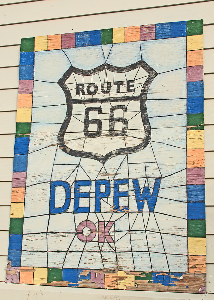 Wall Mural<br /> Old US-66<br /> Depew, Oklahoma