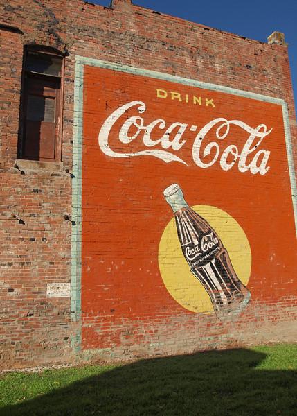 Coca-Cola Mural along Old US-66<br /> Stroud, Oklahoma