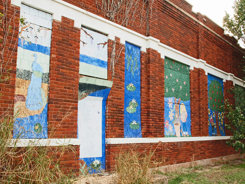 Wall Mural on old building along old US-66, Depew, Oklahoma