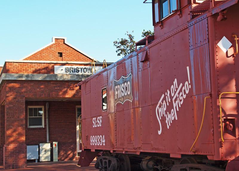 Old Train Depot on old US-66, Bristow, Oklahoma