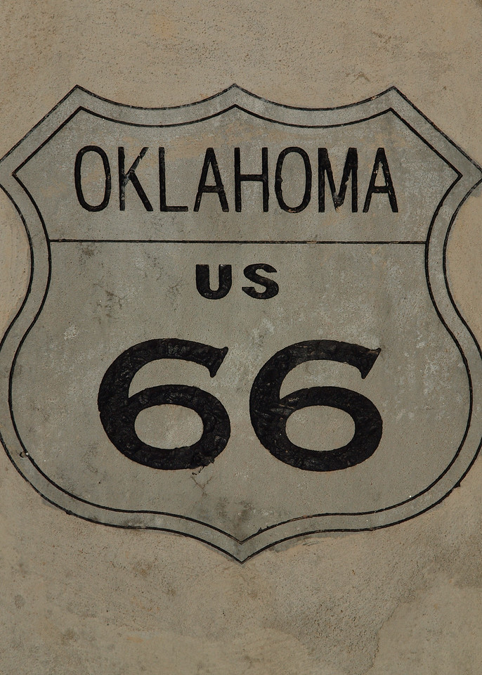 Marker for Historic US-66 at Cyrus Avery Centennial Plaza in Tulsa, Oklahoma