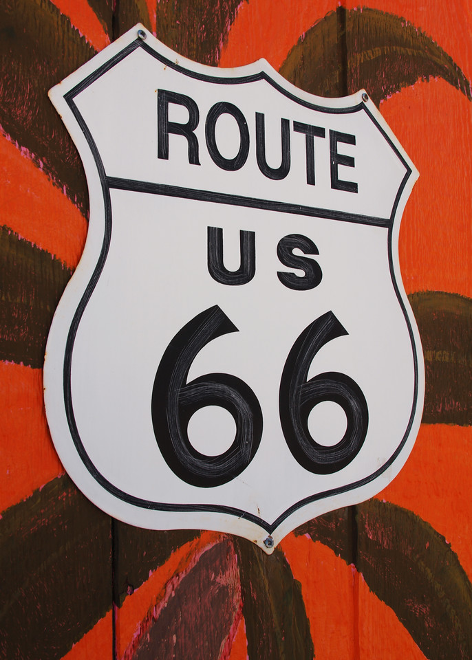 Rte 66 Sign in Afton, OK