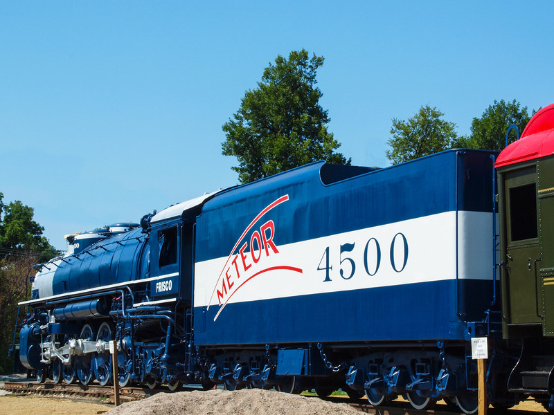 Restored old Locomotive @ Route 66 Village on Old US-66 in Tulsa, Oklahoma