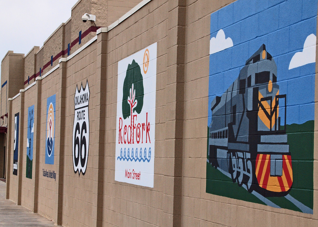 Wall Mural in RedFork area of Tulsa, Oklahoma on old US-66