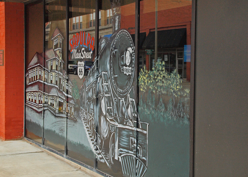 Window Mural on old US-66<br /> Sapulpa, Oklahoma