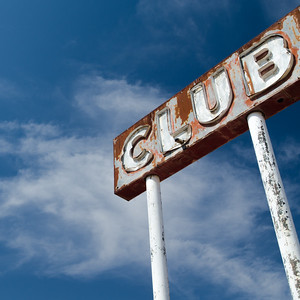 Club Cafe Sign