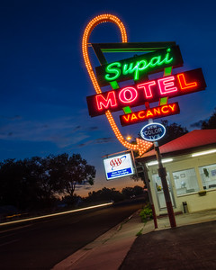 The Supai Motel at Dusk