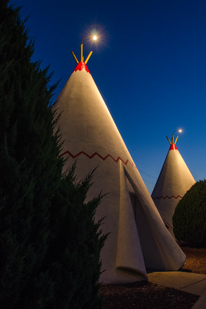 Wigwam at Village #7 at Night