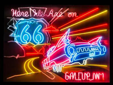 Route 66 Neon Sign in Gallup, NM