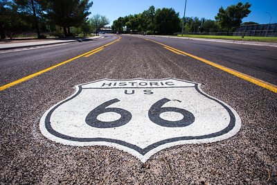 Route 66 road marker
