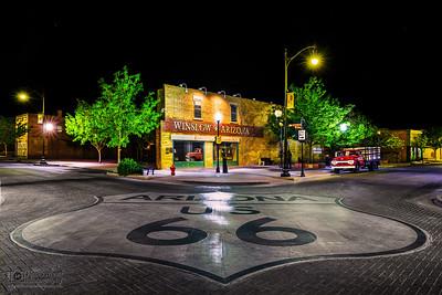 Standin' On The Corner, Route 66, Winslow Arizona
