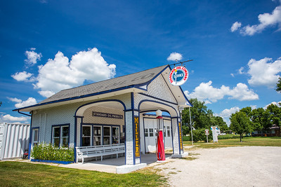 Old gas station Odell Route 66 Illinois