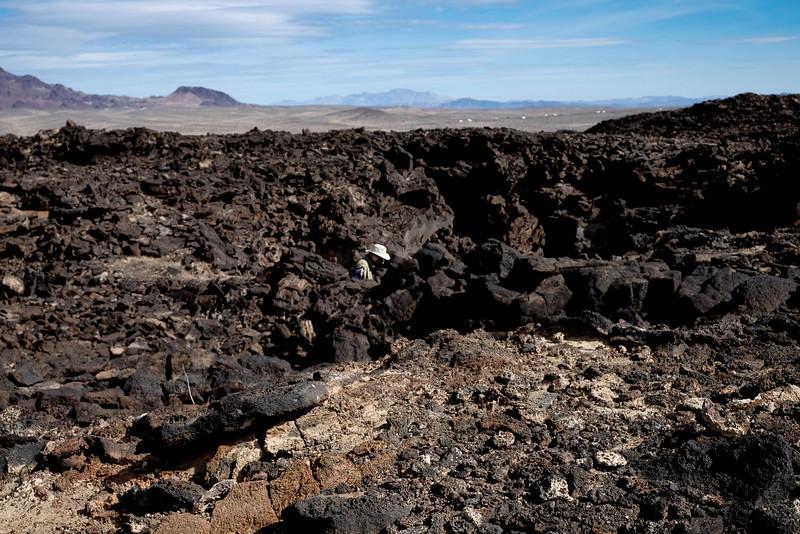 Entering The Pisgah Crater