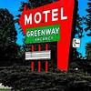 Motel Greenway Sign