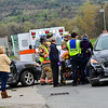 KRISTOPHER RADDER - BRATTLEBORO REFORMER<br /> Members of the Chesterfield Police, Chesterfield Rescue, Rescue Inc, and Brattleboro Fire Department all responded to a two-motor vehicle accident on Route 9, in Chesterfield, N.H., around 11 a.m. on Monday, May 1, 2017. Both drivers were transported to Brattleboro Memorial Hospital for minor injuries. Chesterfield Police Chief Duane M. Chickering said the driver of the Toyota Corolla S  was attempting to cross Route 9 from the Perkins Homer Center to the New Hampshire Liquor & Wine Outlet when it was struck by a Buick Encore that was traveling east on Route 9.