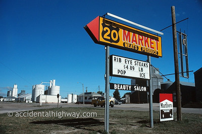 One-Stop Shopping DeCastros Market Hay Springs, Nebraska  © jan albers   all rights reserved