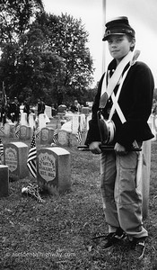 Drummer, Memorial Day Waterloo, New York  © karen e. titus   all rights reserved