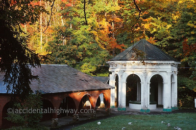 White Sulphur Temple Sharon Springs, New York  © jan albers   all rights reserved