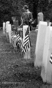 Cemetery, Memorial Day Waterloo, NY  © karen e. titus   all rights reserved