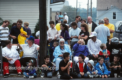 Waiting for the Harvest Parade--Grape Jamboree Geneva, Ohio  © jan albers   all rights reserved