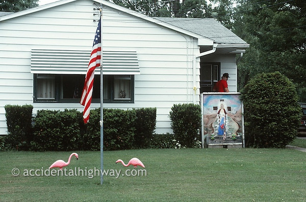 Jesus and the Flamingos<br /> <br /> © jan albers | all rights reserved