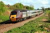 43285 at Huntingford, north of Charfield, leading 1S59, 13:25 Plymouth to Edinburgh. 25/04/09.
