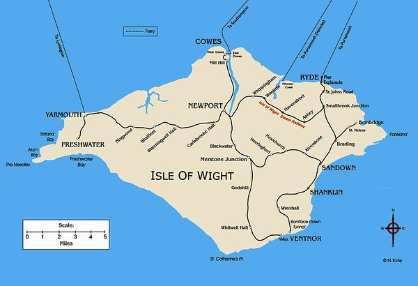 Isle of Wight Railway Map