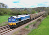 59004 passes Great Cheverell with 6C77, Acton to Merehead empty box wagons, on 10 April 2012.
