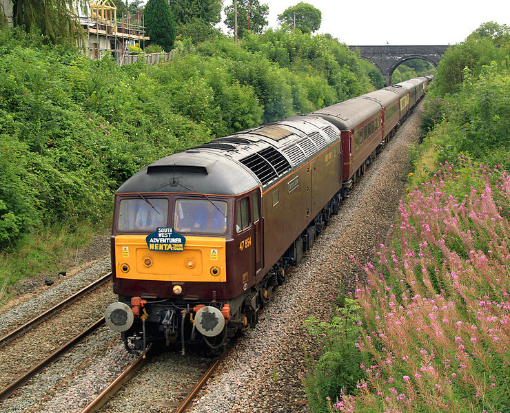 47854 'Diamond Jubilee' on the Frome avoiding line with NENTA's 'South Western Advenurer' tour from Norwich to Plymouth on 18 August, 2012.