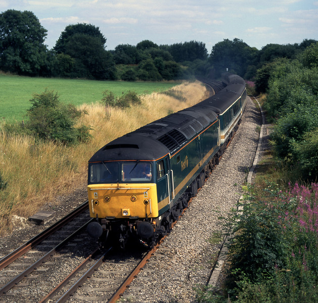 47811 at Wolf Hall, near Crofton, powering the 14:33 Paddington to Plymouth Great Western Trains service on 23 July, 2001.  Over a decade later, the location remains an attractive one.