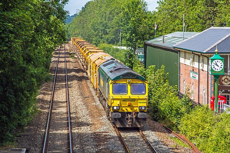 66599 at Bruton Station