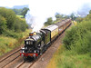 5029 'Nunney Castle' approaches Witham Friary between Frome and Bruton with the 'Weymouth Seaside Express', 08:51 from Bristol to the Dorset resort on 20 August, 2011.