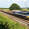 59104 'Village of Great Elm' at Berkley Marsh with 7C54, 13:06 Oxford Banbury Rd to Whatley Quarry.  26/07/12.