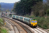 66522 passes Bathampton with 6B21, stone empties from Theale to Bristol Barrow Road sidings.  31/03/12.