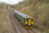 150247 passing Cowcombe Hill - 16 April, 2016