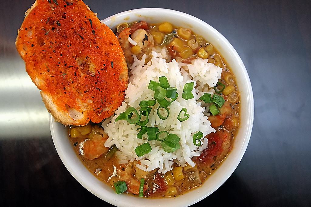 . Shrimp and Corn Etouffee at Roux Dat in Capitola.  (Dan Coyro -- Santa Cruz Sentinel)