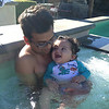 Rowan - First time in the pool!!