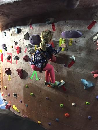 Rowen rock-climbing